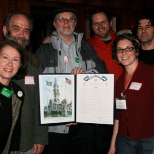 PACA organizers with 2012 City of Philadelphia resolution recognizing the importance of cooperatives in our regional economy.